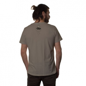 "T-shirt ""Jinpa\"", Marron clair"