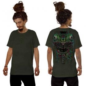 "T-shirt \""Kambo\"", Kaki vieilli"