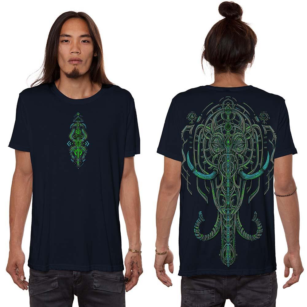 """T-shirt \""""Kandula\"""", Bleu foncé"""