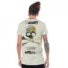 "T-shirt \""Kortes\"", Blanc cassé"