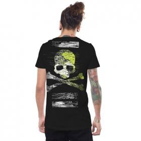 """T-shirt \""""Kortes\"""", Noir"""