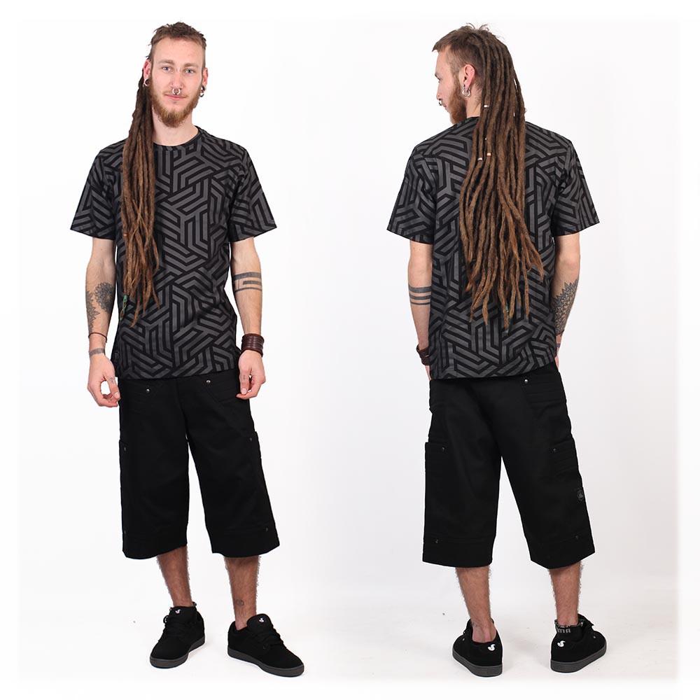 "T-shirt \""Labyrinth\"", Noir"