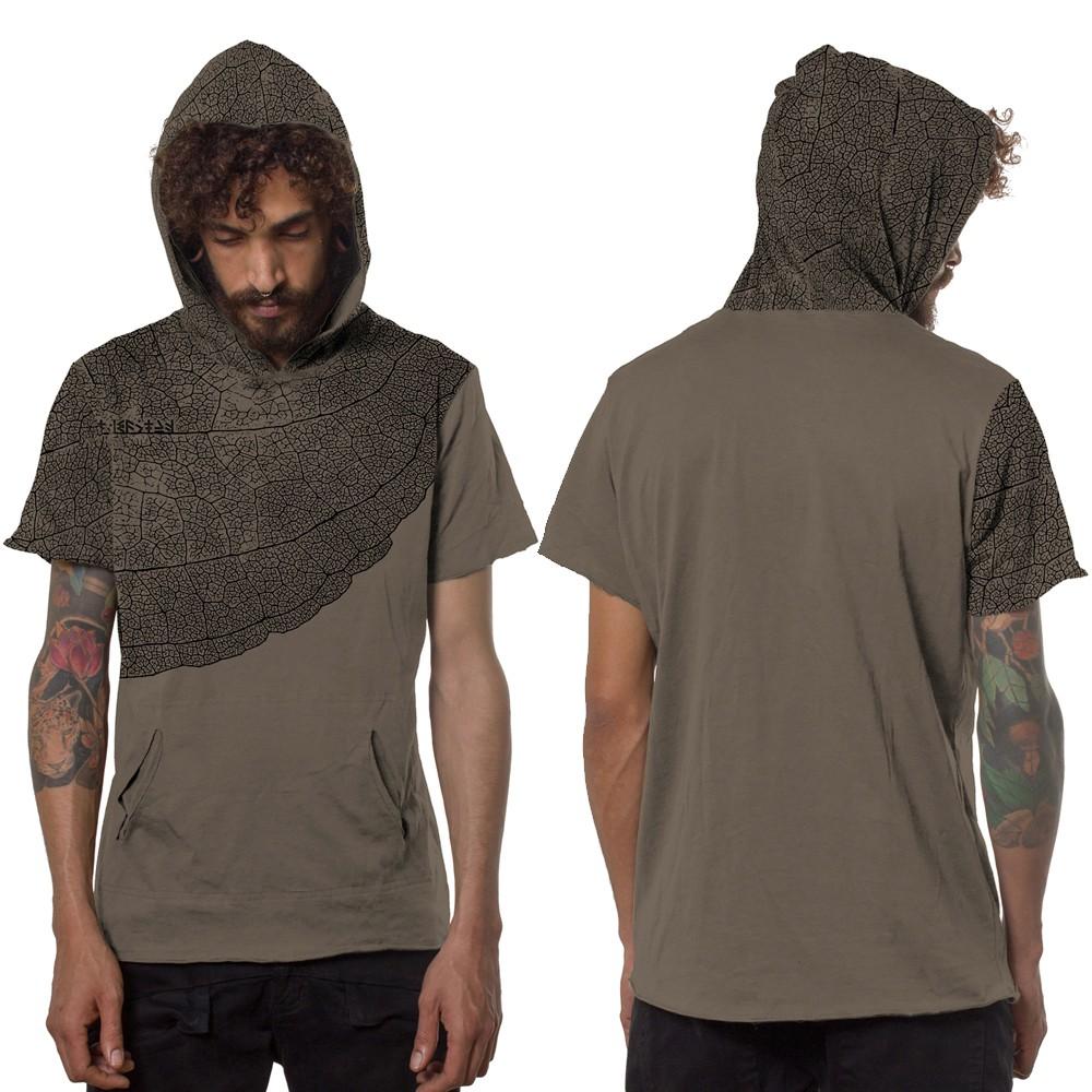 "T-shirt \""Leaf\"", Beige"