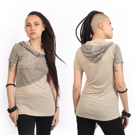 "T-shirt ""Leaf\"", Beige"