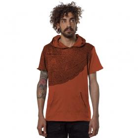 """T-shirt \""""Leaf\"""", Orangé"""