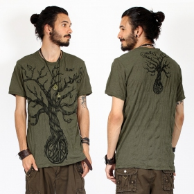 "T-shirt ""Leafless Tree\"", Kaki"