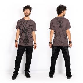 "T-shirt \""Leafless Tree\"", Marron"