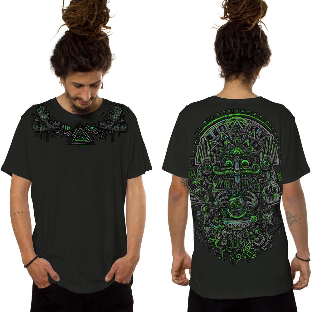 """T-shirt \""""Magi\"""", Vert kaki foncé"""