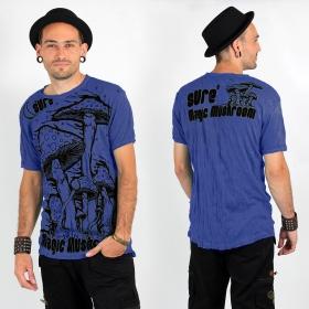 """T-shirt \\\""""Magic Mushroom\\\"""", Bleu électrique"""