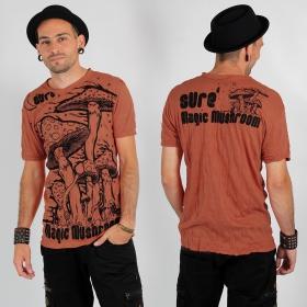 """T-shirt \""""Magic mushroom\"""", Orange"""