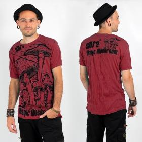 "T-shirt \""Magic Mushroom\"", Rouge corail"