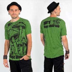 """T-shirt \""""Magic mushroom\"""", Vert"""