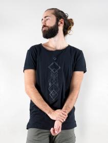 """T-shirt \""""Manitu\"""", Noir"""