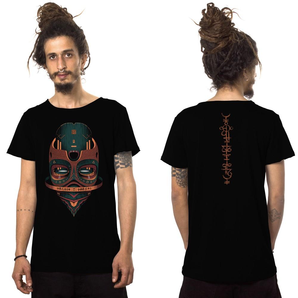"""T-shirt \""""Maskod\"""", Noir"""