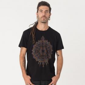 """T-shirt \""""Mexica\"""", Noir"""