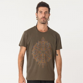 """T-shirt \""""Mexica\"""", Olive"""