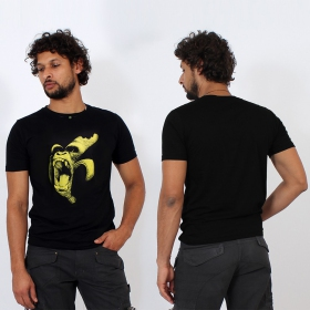 "T-shirt \""monkey banana\"", noir"