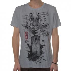 """T-shirt \""""Mr Airplain\"""", Gris clair vieilli"""