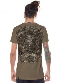 "T-shirt \""Mushi Master\"", Beige vieilli"