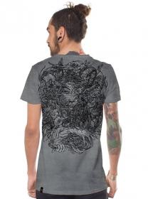 """T-shirt \""""Mushi Master\"""", Gris vieilli"""