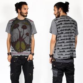 "T-shirt \""Mushroom\"", Gris foncé"
