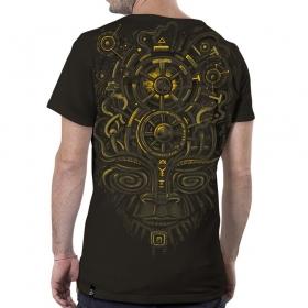 """T-shirt \""""Nightvision\"""", Marron foncé"""