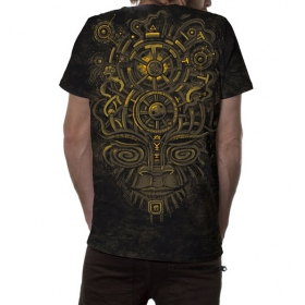 "T-shirt ""Nightvision\"", Noir industriel chiné"