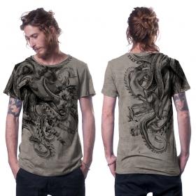 """T-shirt \""""Octan\"""", Beige chiné"""