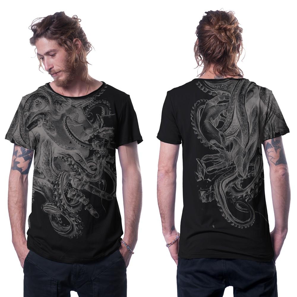 """T-shirt \""""Octan\"""", Noir"""