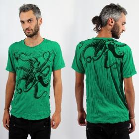 """T-shirt \""""Octopus\"""", Vert menthe"""
