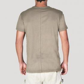 "T-shirt \\\""Off\\\"", Gris beige"
