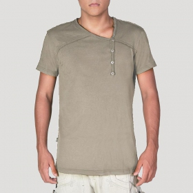 "T-shirt \""Off\\\"", Gris beige"