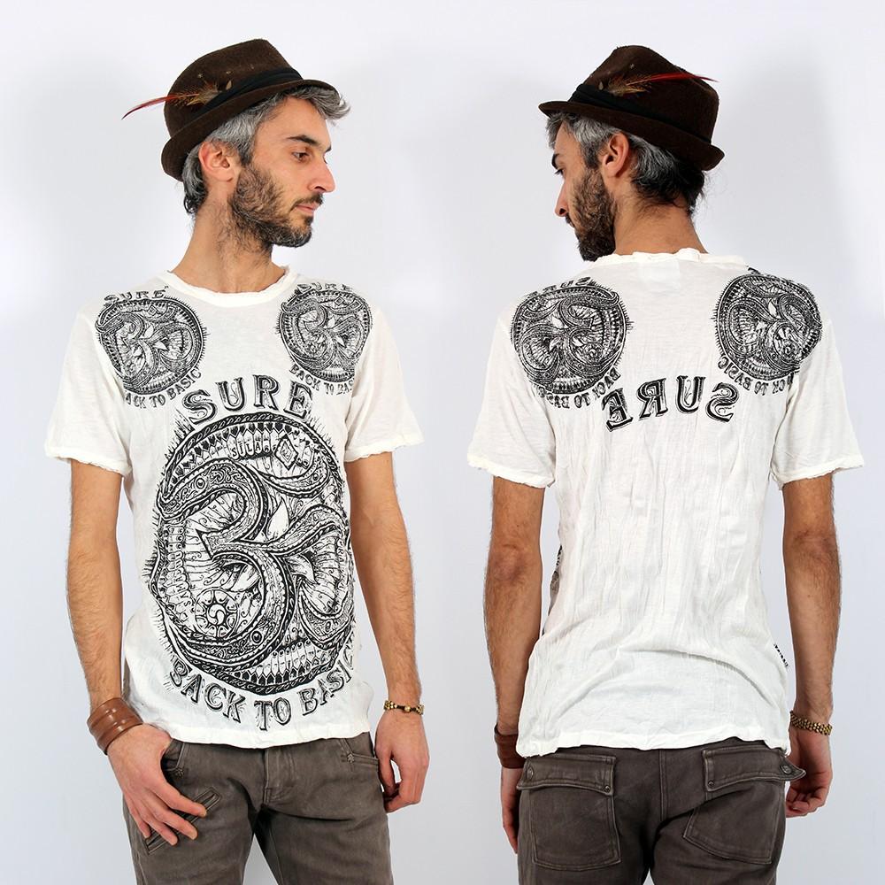 "T-shirt \""Ohm\"", Blanc"