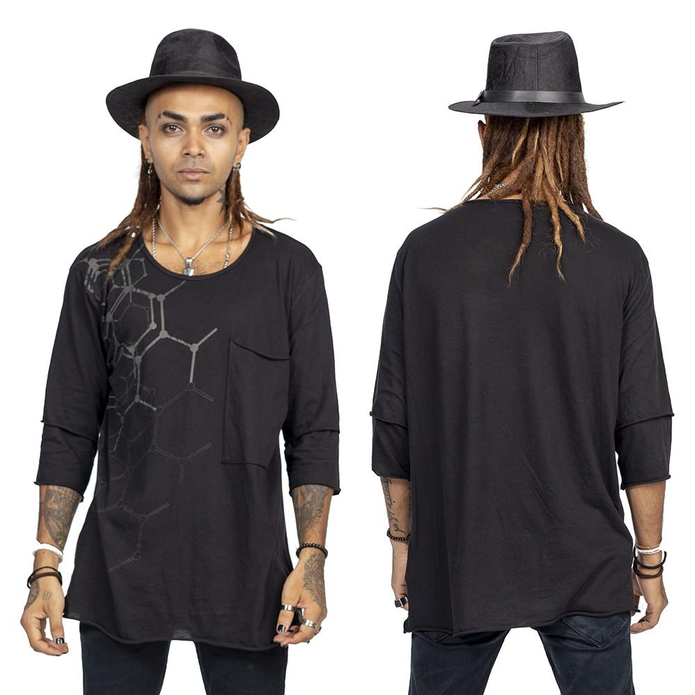 """T-shirt \""""Oracle\"""", Noir et gris"""