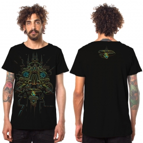 "T-shirt ""Oracular\"", Noir"