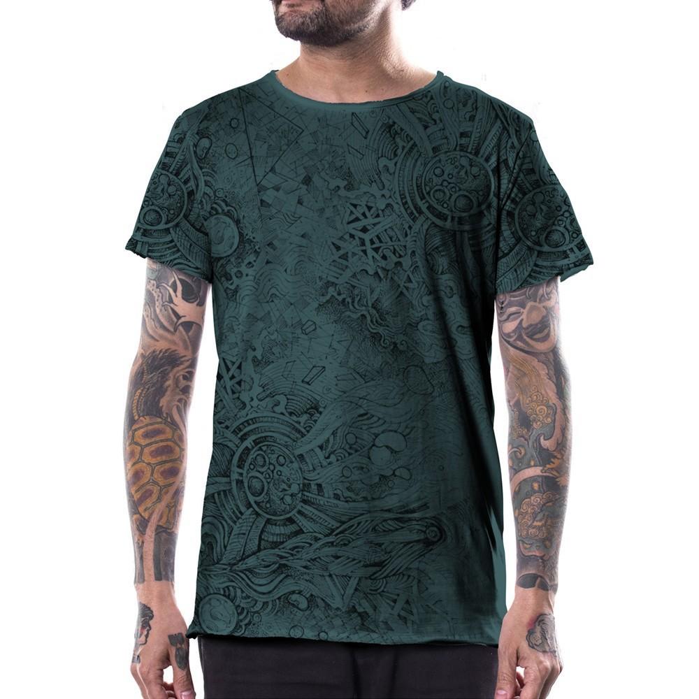 "T-shirt \""Overtones\"", Turquoise"