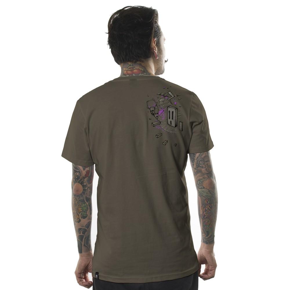 "T-shirt \""Pandalunium\"", Gris beige"