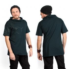 """T-shirt \""""Pollux\"""", Bleu pétrole et noir"""