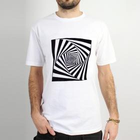 "T-shirt \""psyche spiral\"", Blanc"