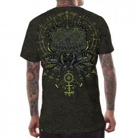 "T-shirt \""Psychotoad\"", Acid Wash olive"