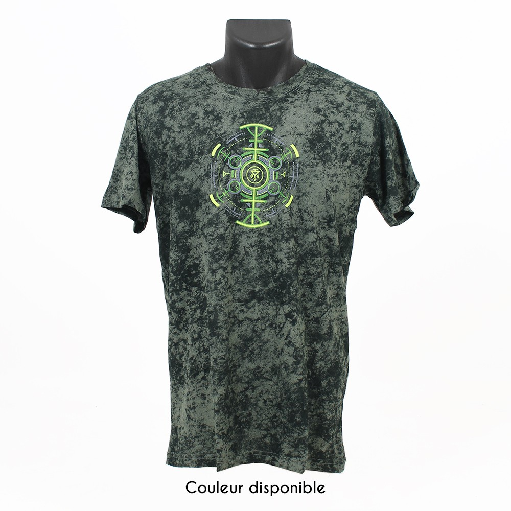 "T-shirt ""Psychotoad"", Acid Wash olive"