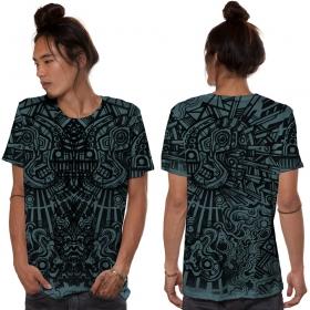 "T-shirt \""Rabbit\"", Turquoise"