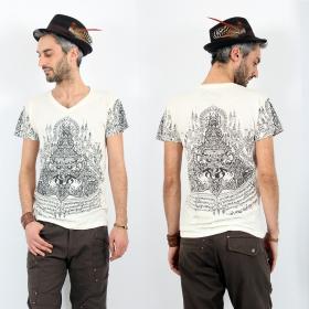 """T-shirt \""""Rahu2\"""", Blanc"""