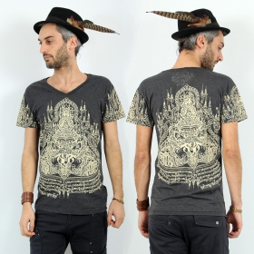 """T-shirt \""""Rahu2\"""", Gris foncé"""