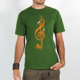 """T-shirt \""""Rocky \""""Clé de sol végétale\"""", Vert"""