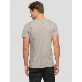 "T-shirt \""Runes\"", Gris beige"