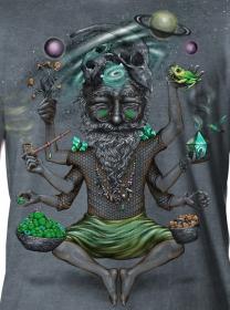 "T-shirt \""Saboosh\"", Gris vieilli"