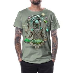 """T-shirt \""""Saboosh\"""", Vert clair"""