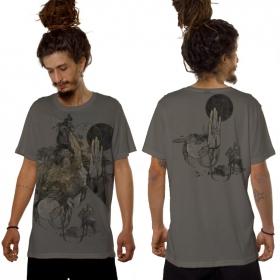 """T-shirt \""""Sarmata\"""", Gris clair"""
