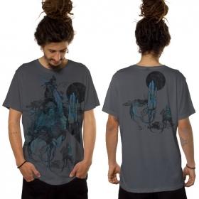 """T-shirt \""""Sarmata\"""", Gris foncé"""